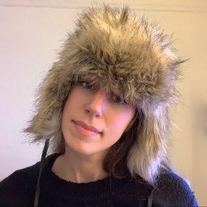 H&M • faux fur trapper ear flap hat